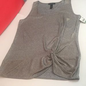 Grey silver tank top shirt